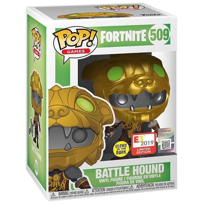 Figura de Funko Pop Battle Hound (Fortnite) en su caja