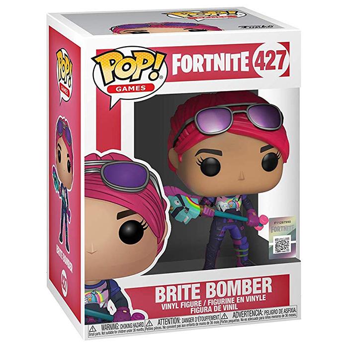 Figura de Funko Pop Brite Bomber (Fortnite) en su caja