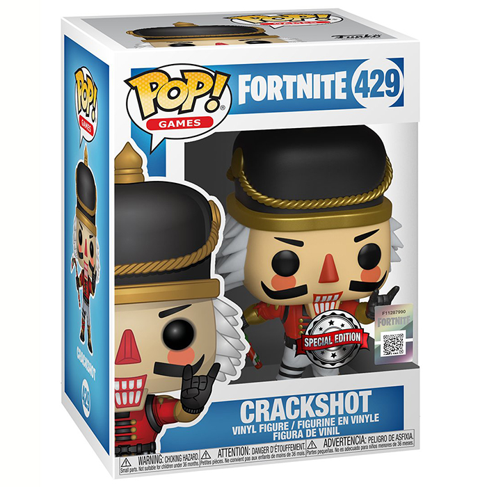 Figura de Funko Pop Crackshot (Fortnite) en su caja