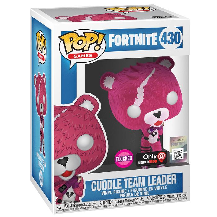 Figura de Funko Pop Cuddle Team Leader en bandada (Fortnite) en su caja