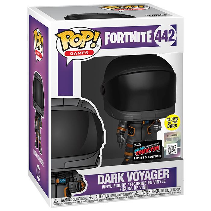 Funko Pop Figura de Dark Voyager GID Brilla en la Oscuridad (Fortnite) en su caja