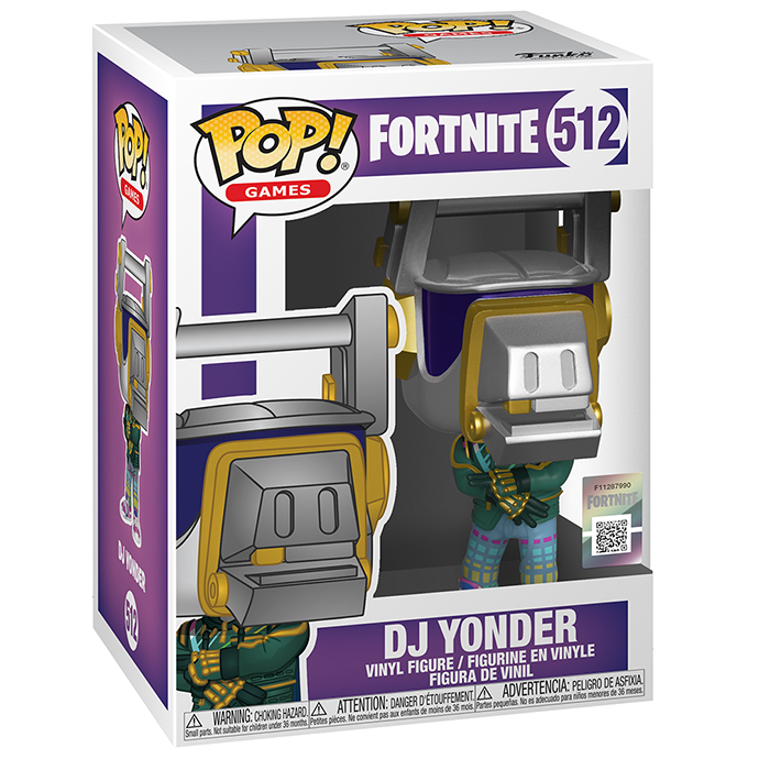 Figura de Funko Pop DJ Yonder (Fortnite) en su caja