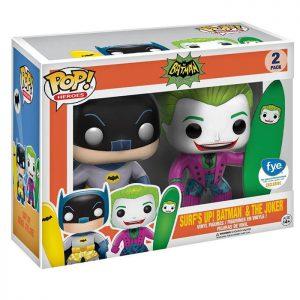 Figura de Batman y el Joker con Tabla de Surf (Batman Classic TV Series)