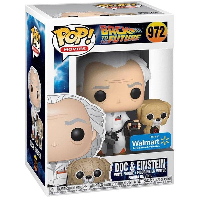 Figura de Doc y Einstein (Regreso al futuro)