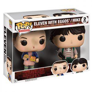Figura de Eleven con Eggos y Mike (Stranger Things)