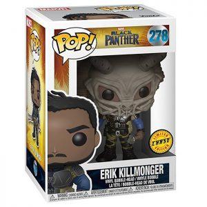 Figura de Erik Killmonger con chase de máscara (Black Panther)