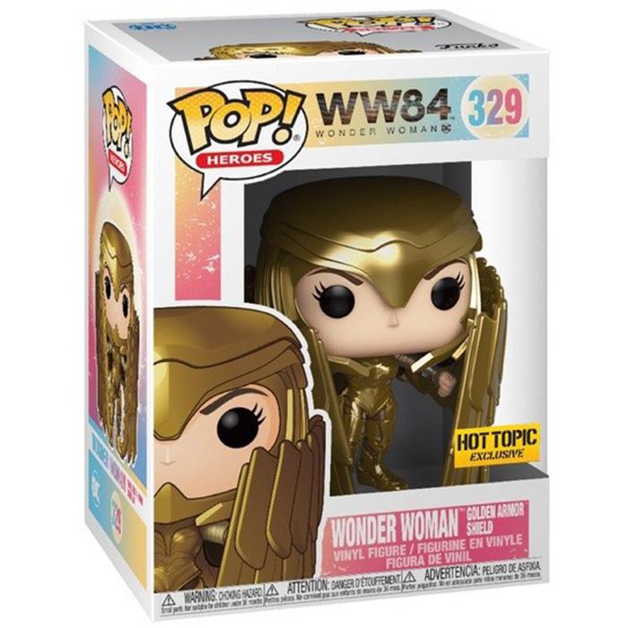 Figura de escudo de armadura dorada de Mujer Maravilla (Mujer Maravilla 1984)