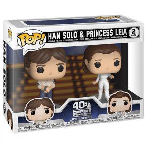 Figura de Han Solo y la Princesa Leia (Star Wars)