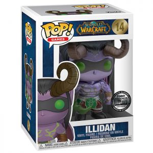 Figura de Illidan metálica (World Of Warcraft)