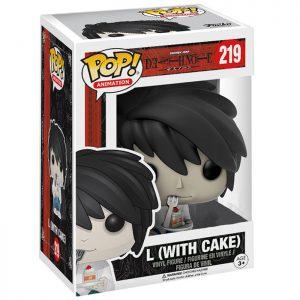 Figura de L con pastel (Death Note)