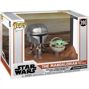 Figura de Mandaloriano con el Niño (Star Wars The Mandalorian)