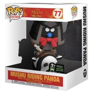 Figura de panda montando Mushu (Mulan)