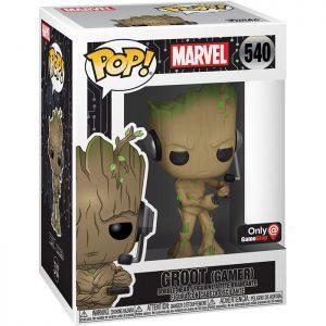 Figura de pie de Groot Gamer (Marvel)