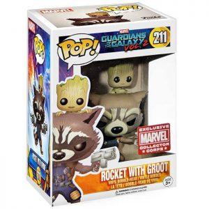 Figura de Rocket con Groot (Guardianes de la Galaxia Vol.2)