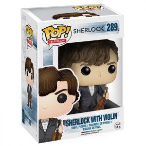 Figura de Sherlock con su violín (Sherlock)