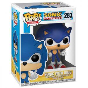 Figura de Sonic con anillo (Sonic el Erizo)