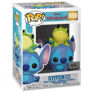 Figura de Stitch con rana (Lilo y Stitch)