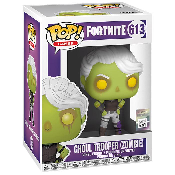 Figura de Funko Pop Ghoul Trooper (Fortnite) en su caja