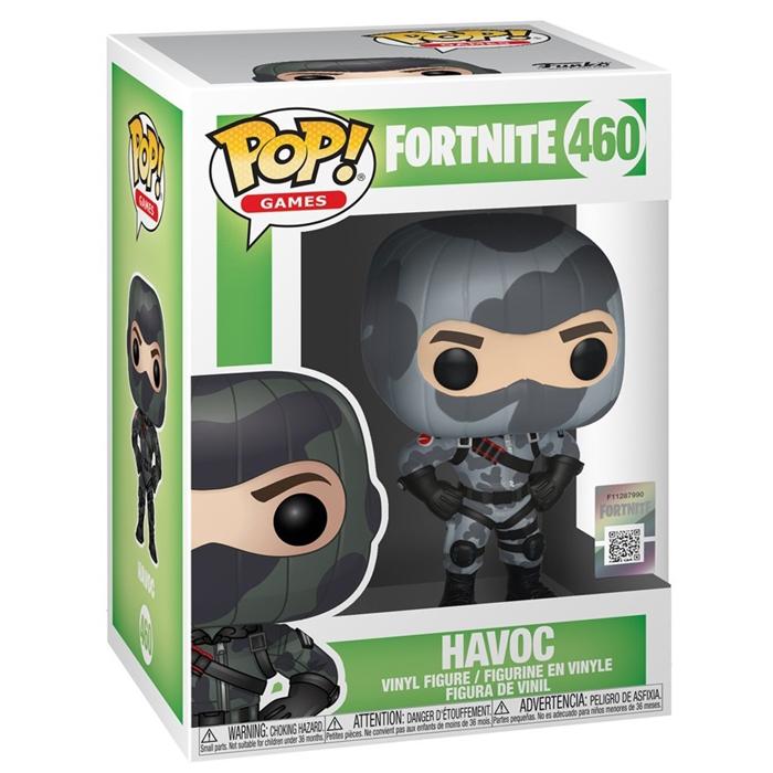 Figura de Funko Pop Havoc (Fortnite) en su caja