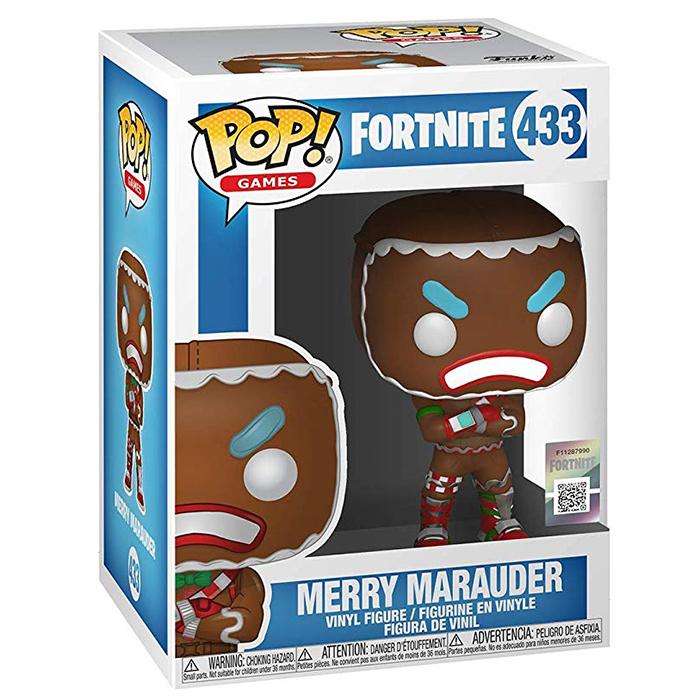 Figura de Funko Pop Merry Marauder (Fortnite) en su caja