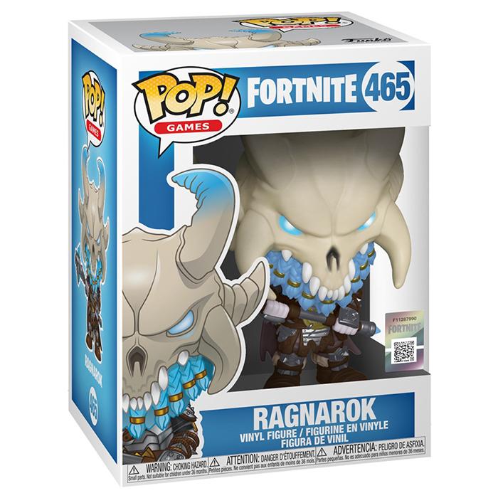 Figura de Funko Pop Ragnarok (Fortnite) en su caja