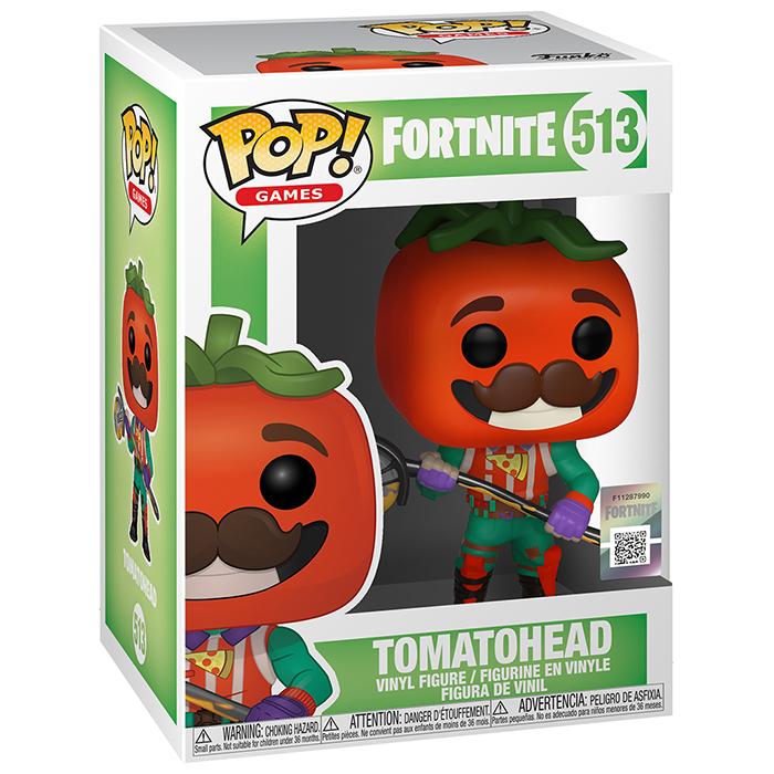 Figura de Funko Pop Tomatohead (Fortnite) en su caja