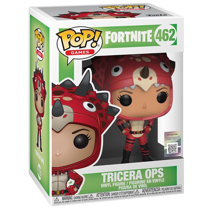 Figura de Funko Pop Tricera Ops (Fortnite) en su caja