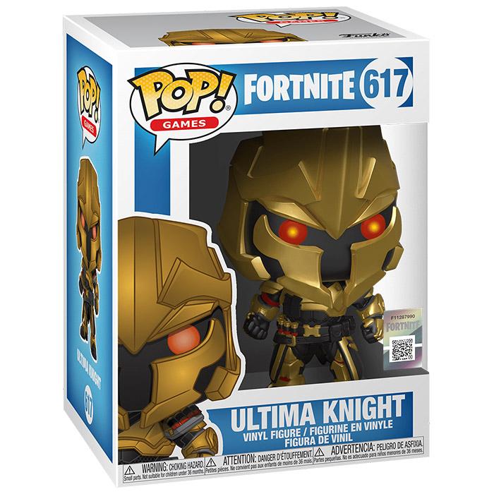 Figura de Funko Pop Ultima Knight (Fortnite) en su caja